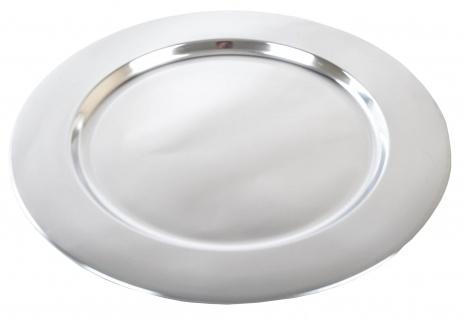 Edelstahl Platzteller Ø35cm Servierteller Dekoteller Unterteller silber glänzend - Vorschau 3