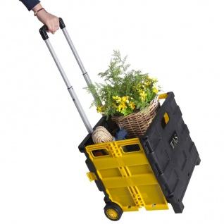 Klappbare Rollbox Einkaufskorb Kofferraumbox Aufbewahrungsbox Rollenbox Trolley