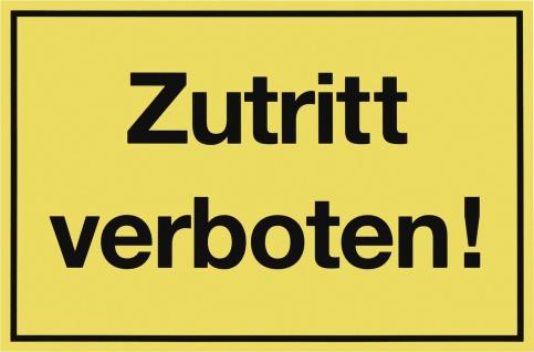 """METAFRANC SCHILD Kennzeichnungsschild ,, Zutritt verboten"""" 500390 Zutritt Verboten"""