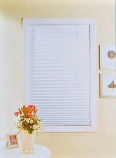 Plissee-Jalousie 100/120cm weiß gelb Plisseerollo Sonnenschutz Sichtschutz Rollo