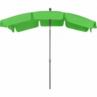 Tropico Mittelstockschirm anthrazit/limette 210x140cm Gestell Stahl anthrazit, Bezug 100% Polyester, 180g/m² in limette, Lichtschutzfaktor UPF 50+