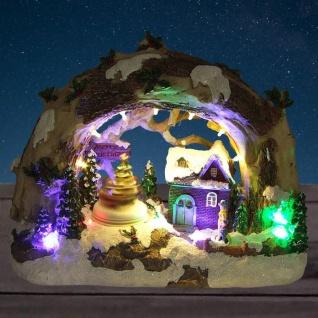 LED-Winterlandschaft Merry Christmas Weihnachts-Tischdeko Beleuchtung Landschaft