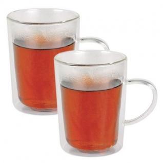 Thermogläser-Set Teegläser Teebecher Kaffeebecher Teeglas Henkelglas Tee Glas