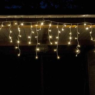 LED-Eisregen-Lichterkette 6m 240 LEDs Weihnachtsbeleuchtung Gartendeko warmweiß