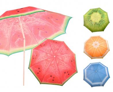 Sonnenschirm 160cm neigbar Strandschirm Gartenschirm Dekoschirm Partyschirm Obst