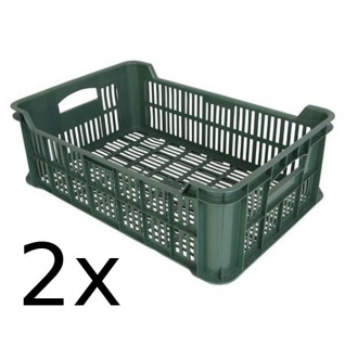 2x Obst- und Gemüsekiste Kartoffelkiste Kiste Lagerkiste Gemüse Transportkiste