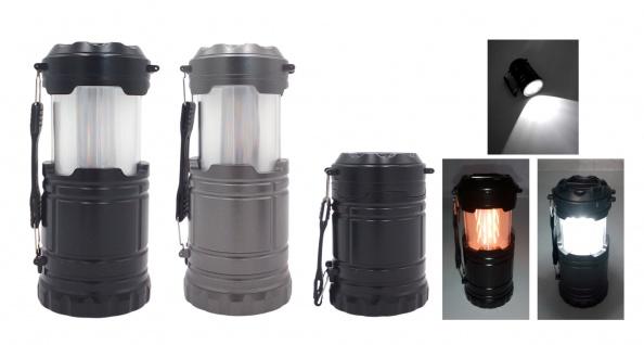 Redcliffs LED Campinglampe 3 Funktionen Campinglaterne Zeltlampe Taschenlampe
