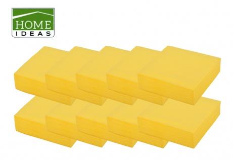 500 Servietten gelb 33x33cm 3lagig 1/4 Falz Papierserviette Tischdeko Papiertuch