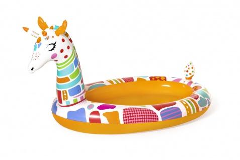 Bestway Planschbecken Giraffe 266x157x127cm 220L Kinderpool mit Wassersprinkler