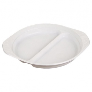 100 Menüteller Einweggeschirr Plastikteller Portionsteller Partyteller Teller - Vorschau 2
