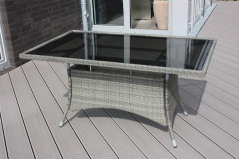 CONSUL GARDEN ALU/GEFLECHTTISCH Tisch 150x90cm Taupe 853