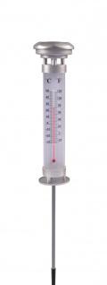 Solar Garten-Thermometer Solarlampe Außenthermometer Solarleuchte Gartenlampe