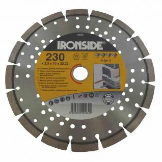 Diamantscheibe 230mm 4in1 2, 5/10mm Trennscheibe Schleifscheibe Werkzeuge TOP NEU