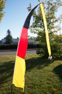 Teleskop-Fahne Deutschland 230cm Windfahne Gartenfahne Fahnenmast Fußballfahne