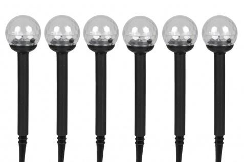 Solar-Gartenleuchte LED Farbwechsler 6er-Set Solarleuchte Gartenlampe Dekolampe