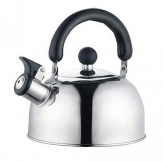 Edelstahl Flötenkessel 2 Liter Pfeifkessel Wasserkocher Wasserkessel Teekessel