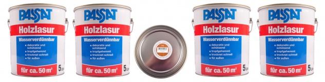Passat Holzlasur 20 Liter Teak Holzschutz schnelltrocknend Holzfarbe außen