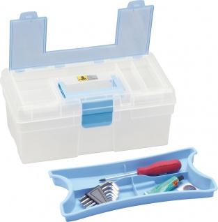 """allit MCPLUS Kunststoffkoffer ,, McPlus Clear 12.5"""" 416401 12.5 Blau"""
