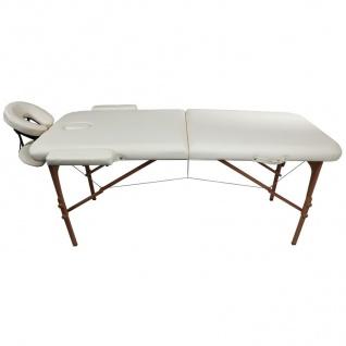 Profi Massageliege natur Kosmetikliege Massagebank Massagetisch bis 270kg