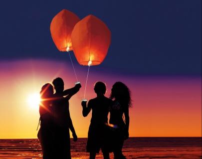 Himmelslaterne Doppelpack rot Wunschlaterne Skylaterne Skyballon Glückslaterne