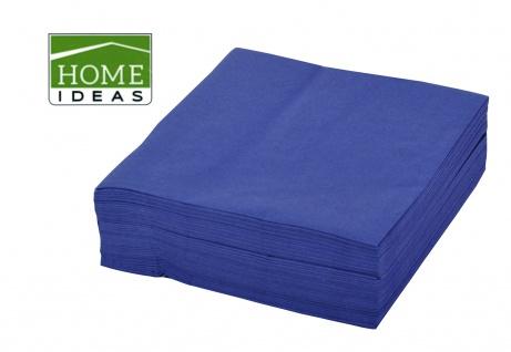 2500 Servietten blau 33x33cm 3lagig 1/4 Falz Papierserviette Papiertuch Deko