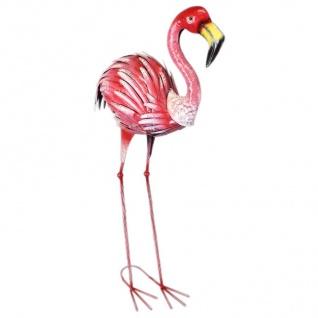 Flamingo 87cm Metal Dekovogel Gartenfigur Gartendeko Teichdeko Gartenstecker
