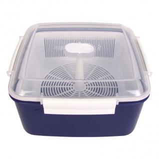 Mikrowellen-Dampfgarer 2, 4L Mikrowellenbehälter Vorratsdose Gefrierdose Kochtopf