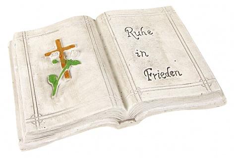 Grab-Spruchstein mit Aufschrift Goldenes Kreuz Grabdeko Grabschmuck Grabstein