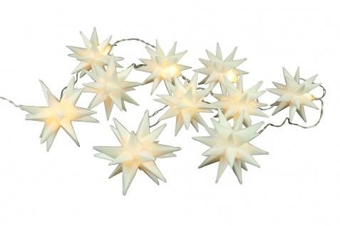 Weihnachts-Lichterkette 3D-Sterne mit 10 LED Warmweiß Weihnachtssterne Deko