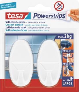 """tesa POW.STRIPS-HAKEN Haken ,, Powerstrips® Large"""" 58013 58013/0 Weiss Oval"""
