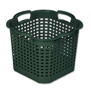 Ernte-Vorratskorb eckig, dreh-stapelbar, grün 40 x 40 x 30 cm max. 25 kg