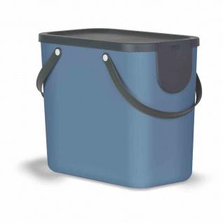 Recycling-Müllsystem Albula 25l blau Abfallsammler Abfallbox Mülleimer Haushalt