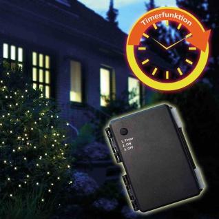 LED-Batterie-Netz außen 100er 1, 5x1, 5m + Timer 3xAA Lichterkette Beleuchtung TOP
