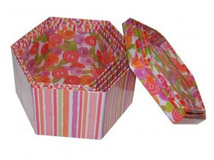 Dekoboxen 5er Set 4 versch. Designs Geschenkbox