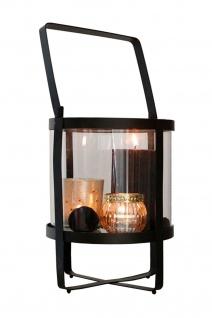 Metalllaterne mit Teelichhalter und Kerze Windlicht Kerzenhalter Tischdeko Deko