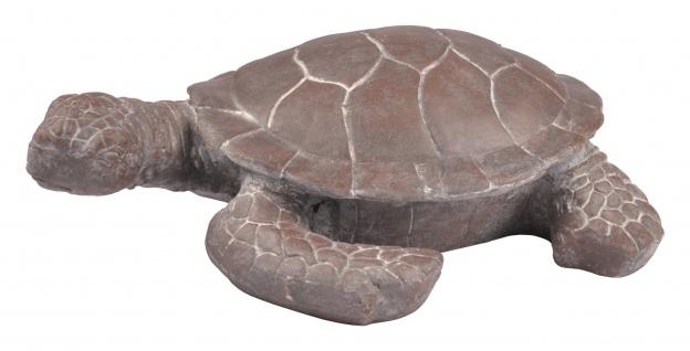 Deko Schildkröte 51cm Gartendeko Gartenfigur Teichfigur Landschildkröte Tierdeko - Vorschau 3