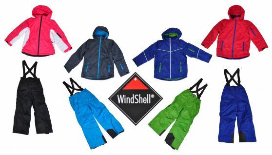 WindShell® 2tlg. Kinder Skianzug Schneeanzug Winteranzug Jacke + Hose Outdoor