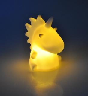 LED Deko-Einhorn weiß Unicorn Pferd Nachtlicht Dekolampe Dekofigur Kinderlampe