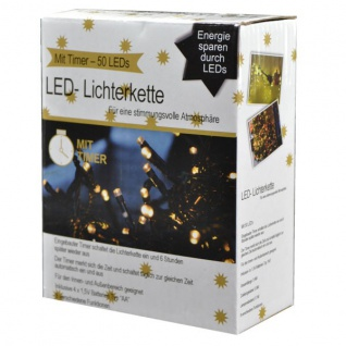 LED Lichterkette 50 mit Timer