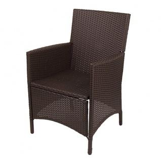 Korbsessel Hularo braun Stuhl Sessel Gartenmöbel Rattanstuhl Gartensessel