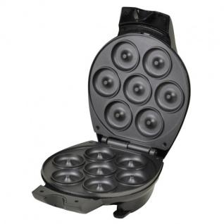 TAS Donutmaker 700W Cool-Touch-Gehäuse antihaft Krapfen Bagel Bäcker Backgerät