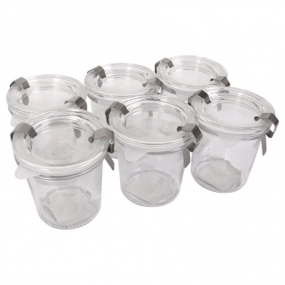 Sturzgläser 6er-Set Einmachgläser 110ml Marmeladengläser Sturzglas Vorratsglas
