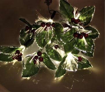 LED Solar-Lichterkette Ilex Stechpalme Girlande Weihnachtsdeko Balkondeko - Vorschau 2