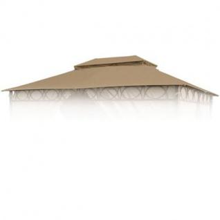 Ersatzdach braun für Cape Town Garten-Pavillon 4x3m Pavillondach Kaminabzug
