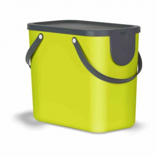 Recycling-Müllsystem Albula 25l grün Abfallsammler Mülleimer Abfalleimer TOP NEU