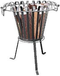 Feuerkorb Feuerstelle ohne Grill aus Metall dunkel