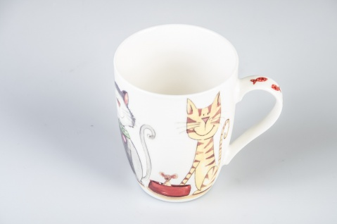 """Dragimex Becher ,, Katzen"""" 54213 Katzen 8x10cm - Vorschau"""