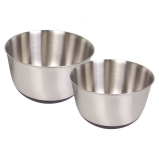 Edelstahl Rührschüssel 2er-Set Schüsselsatz Backschüssel Salatschüssel Schüssel