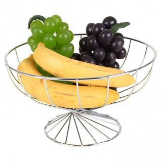 24cm Edelstahl Obstschale Dekoschale Obstkorb Früchtekorb Schale Früchteschale