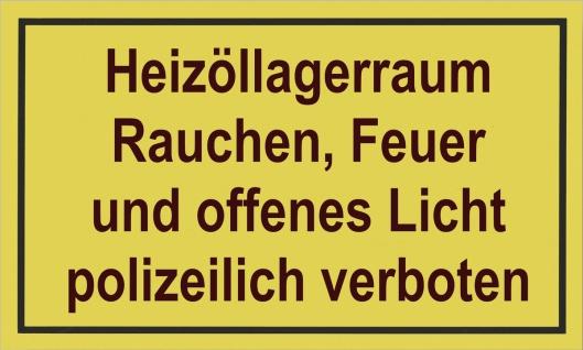 """METAFRANC SCHILD Kennzeichnungsschild ,, Heizraum..."""" 500250 Heizoellagerraum"""